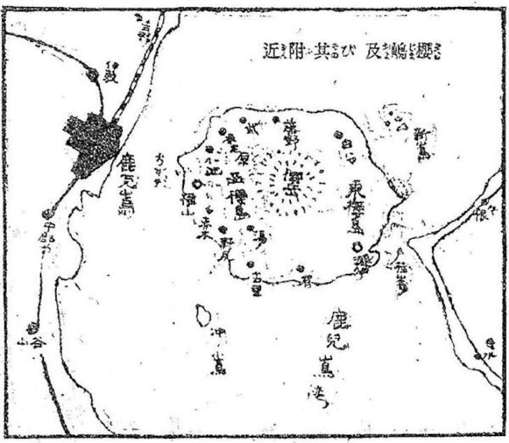 桜島・大正3年地図