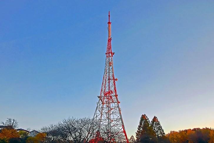 神奈川県立三ツ池公園テレビ神奈川の送信塔