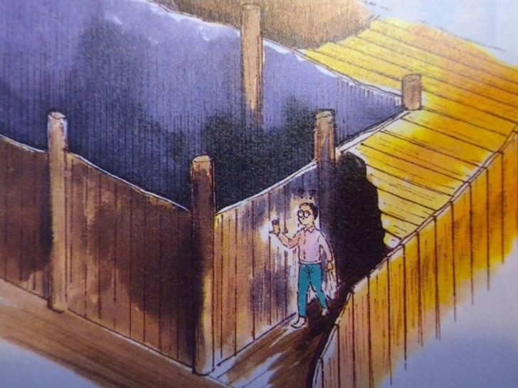 お戒壇めぐりの想像図。イラスト/多田敬一