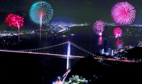 関門海峡花火大会 in 門司港レトロ