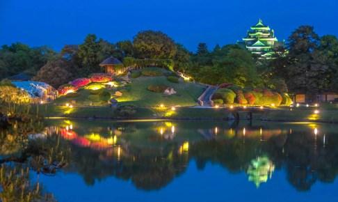 岡山後楽園『夏の幻想庭園』