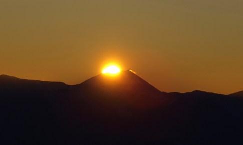 千畳敷カールで元旦、雲上のダイヤモンド富士