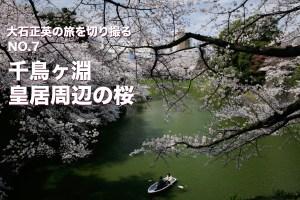 大石正英の旅を切り撮る NO.7 千鳥ヶ淵・皇居周辺の桜