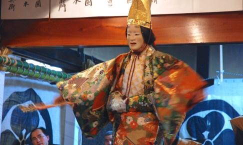 春日神社『王祇祭』黒川能奉納