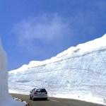 蔵王エコーライン開通/雪の回廊