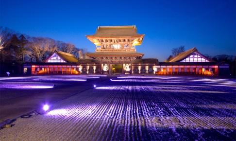 国宝瑞龍寺『春のライトアップと門前市』