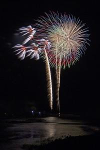 海上の花火
