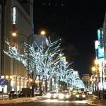 札幌駅前通りがキラキラしていてとっても綺麗!