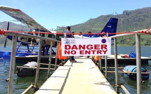 スリランカの水上飛行機搭乗口