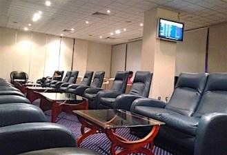 コロンボ空港アラリヤラウンジの中の画像