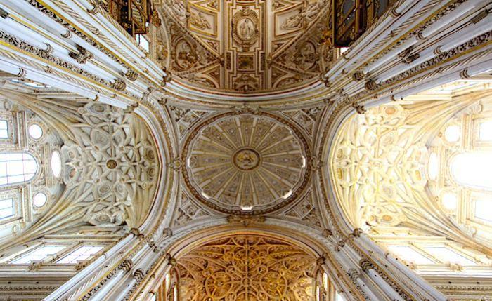 メスキータのカテドラル部分の天井画像