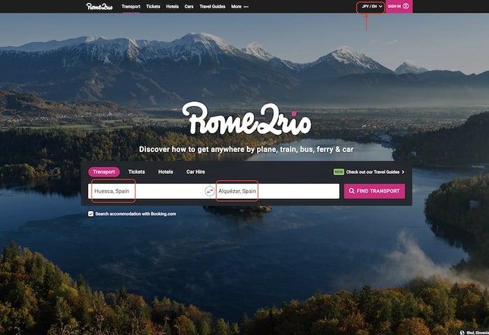 サイトのトップ画面の画像