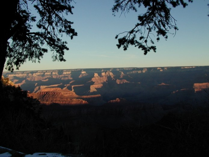 A sunrise of the grand canyon
