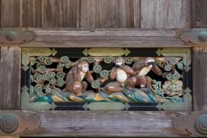 Les célèbres 3 singes de la sagesse: ne pas écouter, ne pas répéter, ne pas épier