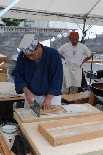 福井越前紙祭り Fukui, soba chef