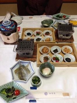加賀屋、朝ご飯 petit déjeuner