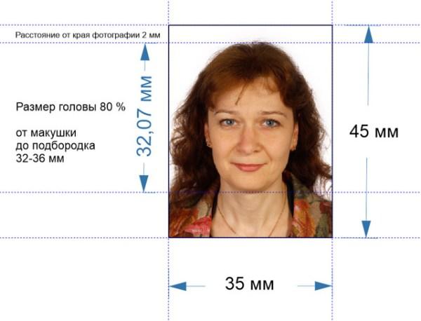 Размер фото на паспорт: требования к фотографии - Мигрант инфо