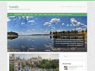 Word Press Theme Travelify