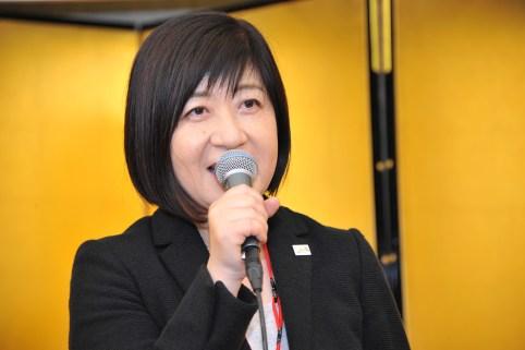 来賓ご挨拶、兵庫県産業労働部観光監・松森章子様