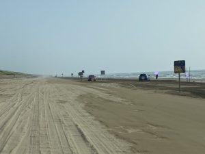 千里浜なぎさドライブウェイ 砂浜