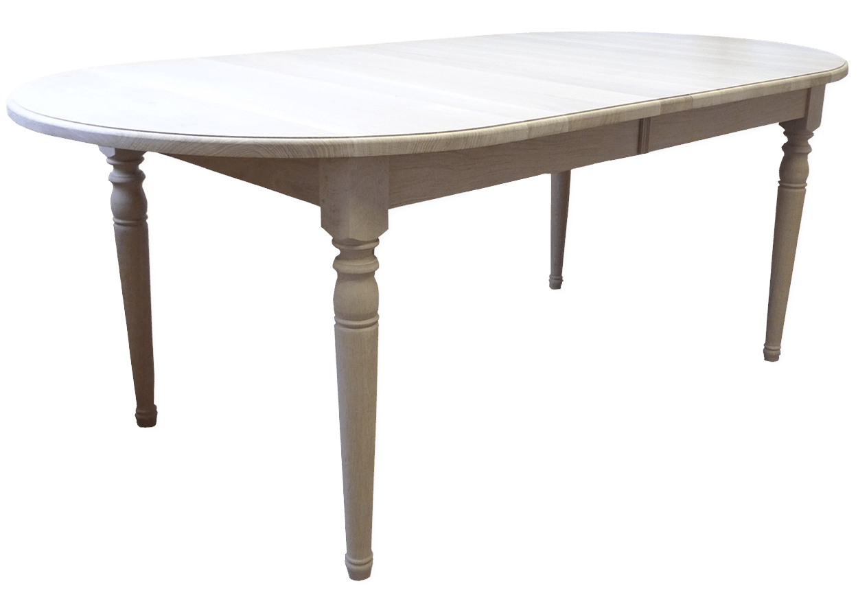 table ovale fixe authentique chic bois chene massif