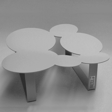 Table basse design cloudy blanche