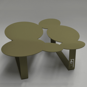 Table basse design cloudy olive