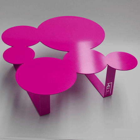 Design coffee table Inside pink