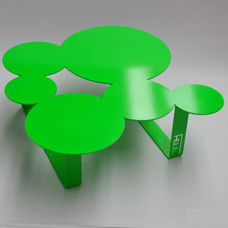 Design coffee table Inside green