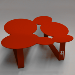Coffee table cloudy red