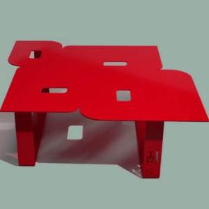 Modern coffee table so seventies red