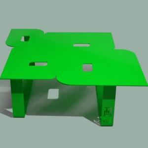 Modern coffee table so seventies green