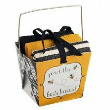bees gift box with kitchen towels
