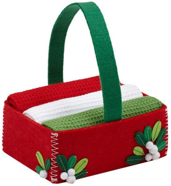 christmas kitchen towels gift set