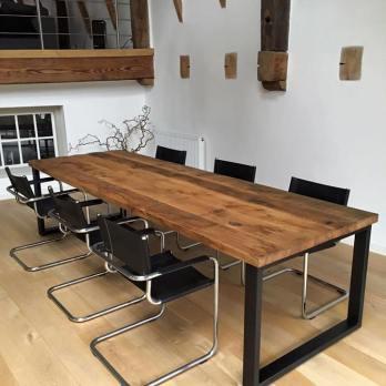 table sur mesure en chêne massif