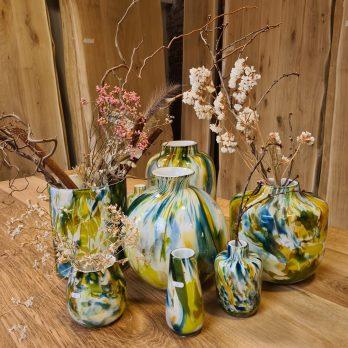 Vases en verre soufflé