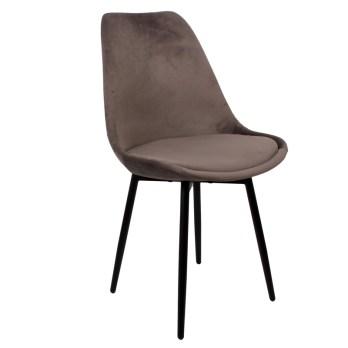 chaise leaf chair dark grey