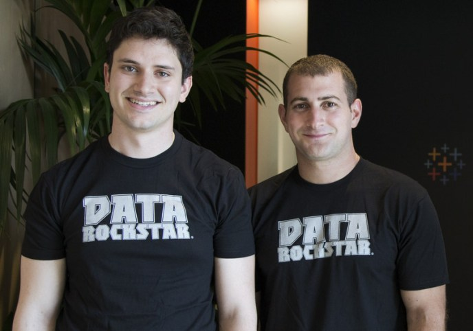 ClearGraph founders Ryan Atallah and Andrew Vigneault at Tableau's Palo Alto office (PRNewsfoto/Tableau Software)