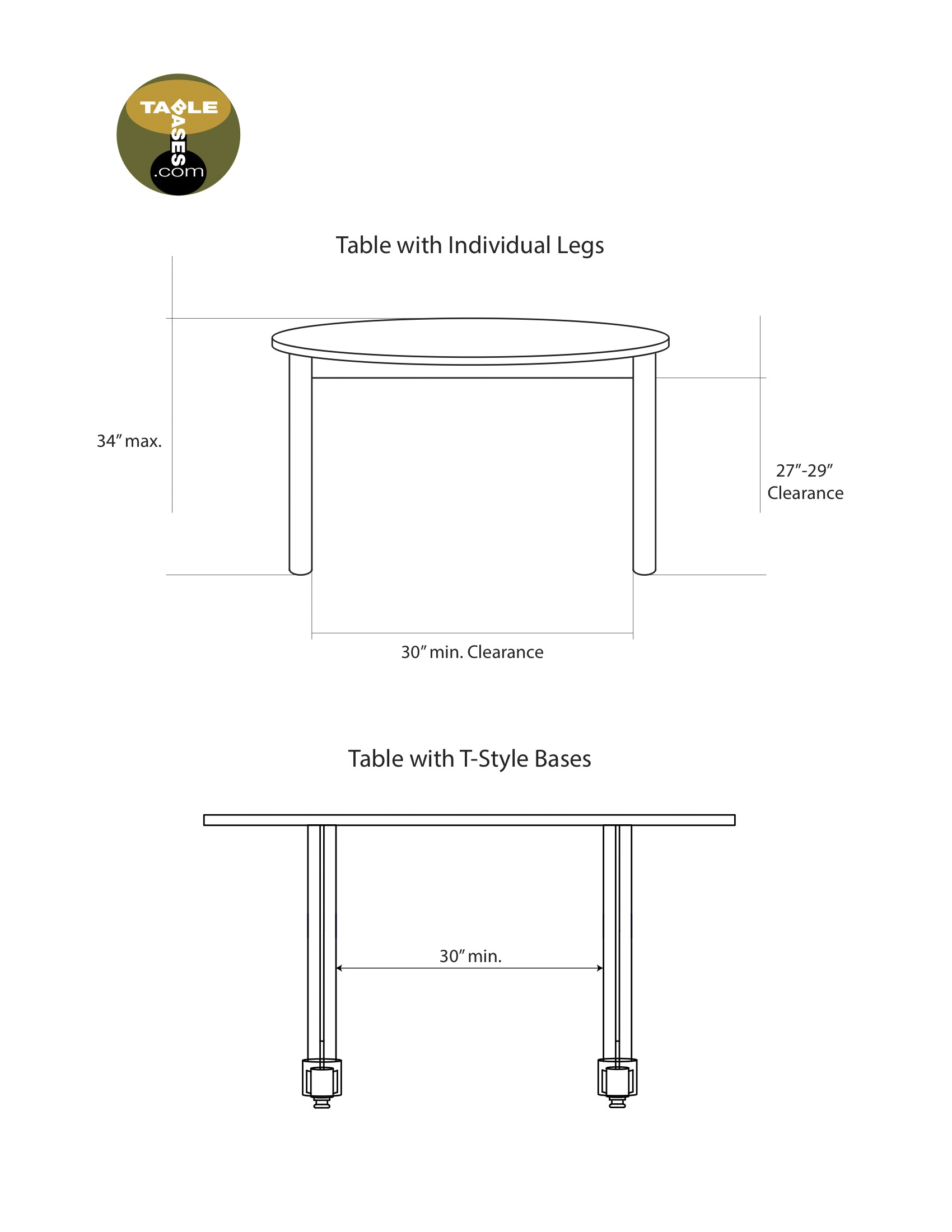 Accessible Dining Banquet And Bar Tables And Bases