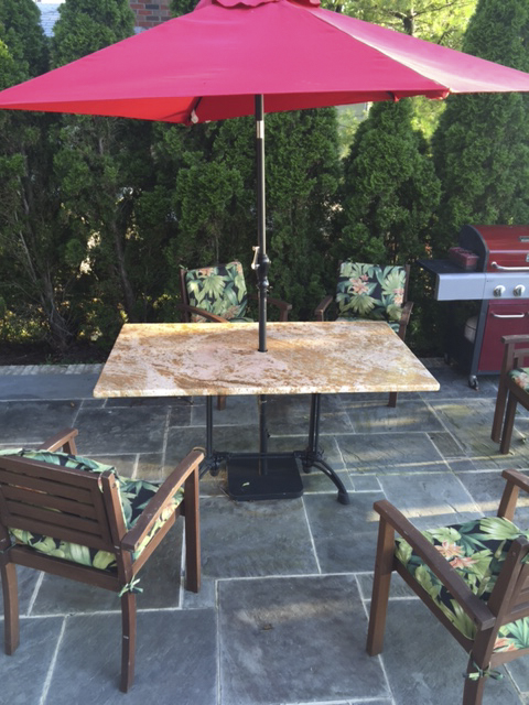 Custom Granite Patio Table With Our Bruni 2 X 2