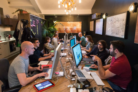 group at desk