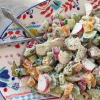 Salade de radis crémeuse