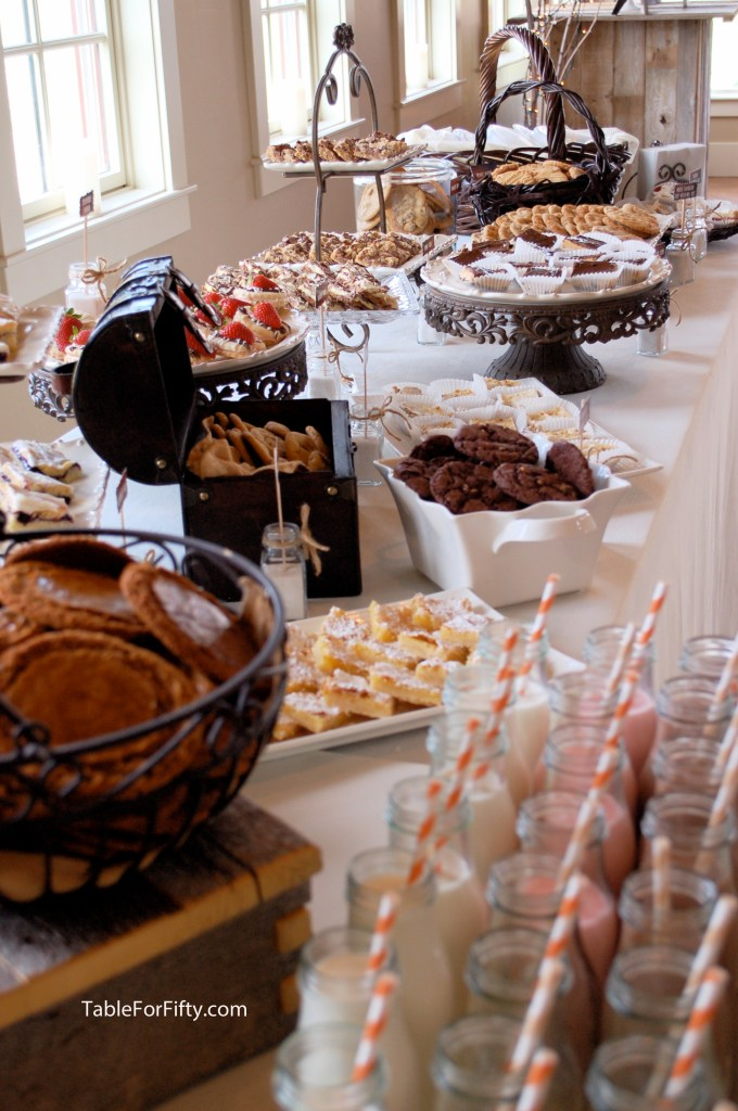 cookie bar wedding buffet