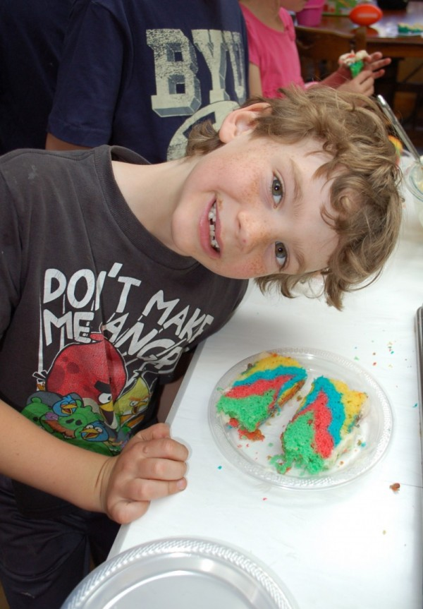 Rainbow Birthday Cake Baking