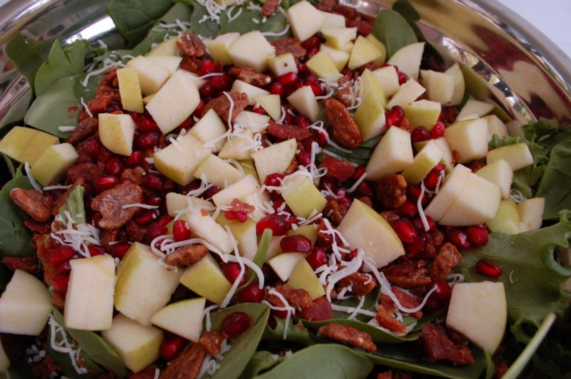 Laura's pomegranate pear Christmas Salad