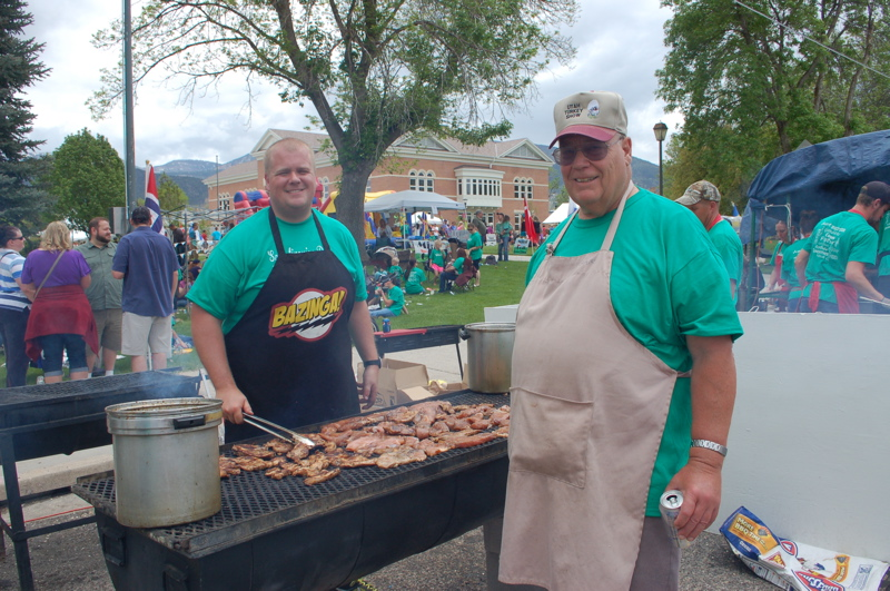 Gary Anderson (right) helps his brother Jack organize this huge fundraiser every year.