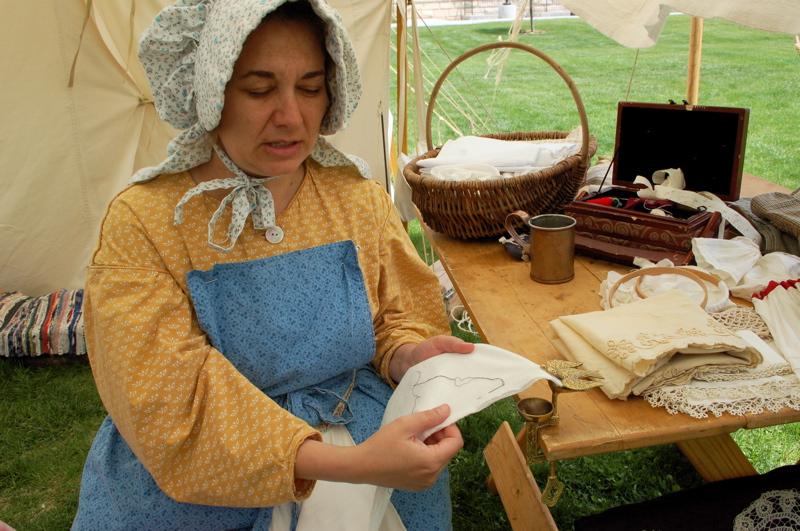 Pioneer era sewing