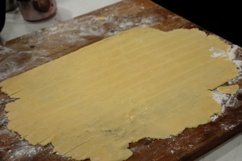 pastry strips ready for lattice