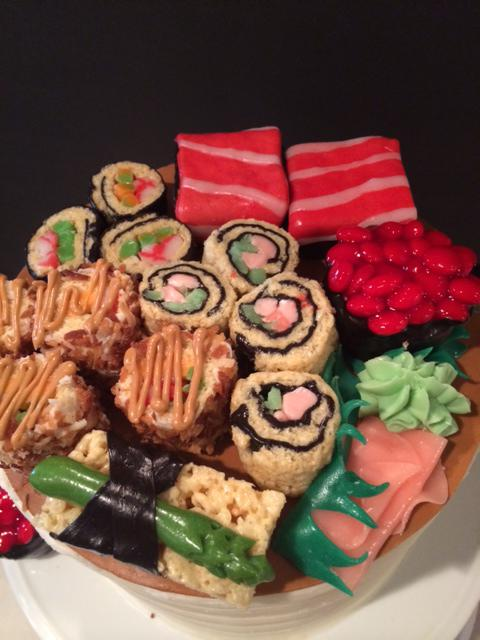 Candy Sushi used on top of my son's birthday cake.