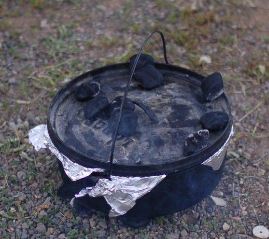 dutch oven briquette placement